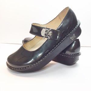 7d8753a5901eff Alegria Shoes - Alegria Paloma Charcoal Patent Mary Jane Shoes